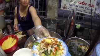 Уличная еда во Вьетнаме. Едим Cơm Gà Xé (Рис с курицей)