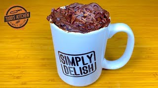 KETO CHOCOLATE CAKE RECIPE in a Mug Cup low carb no bake 4K