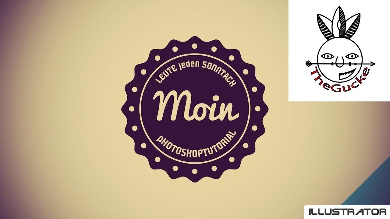 Illustrator Tutorial - Retro Logo erstellen - YouTube