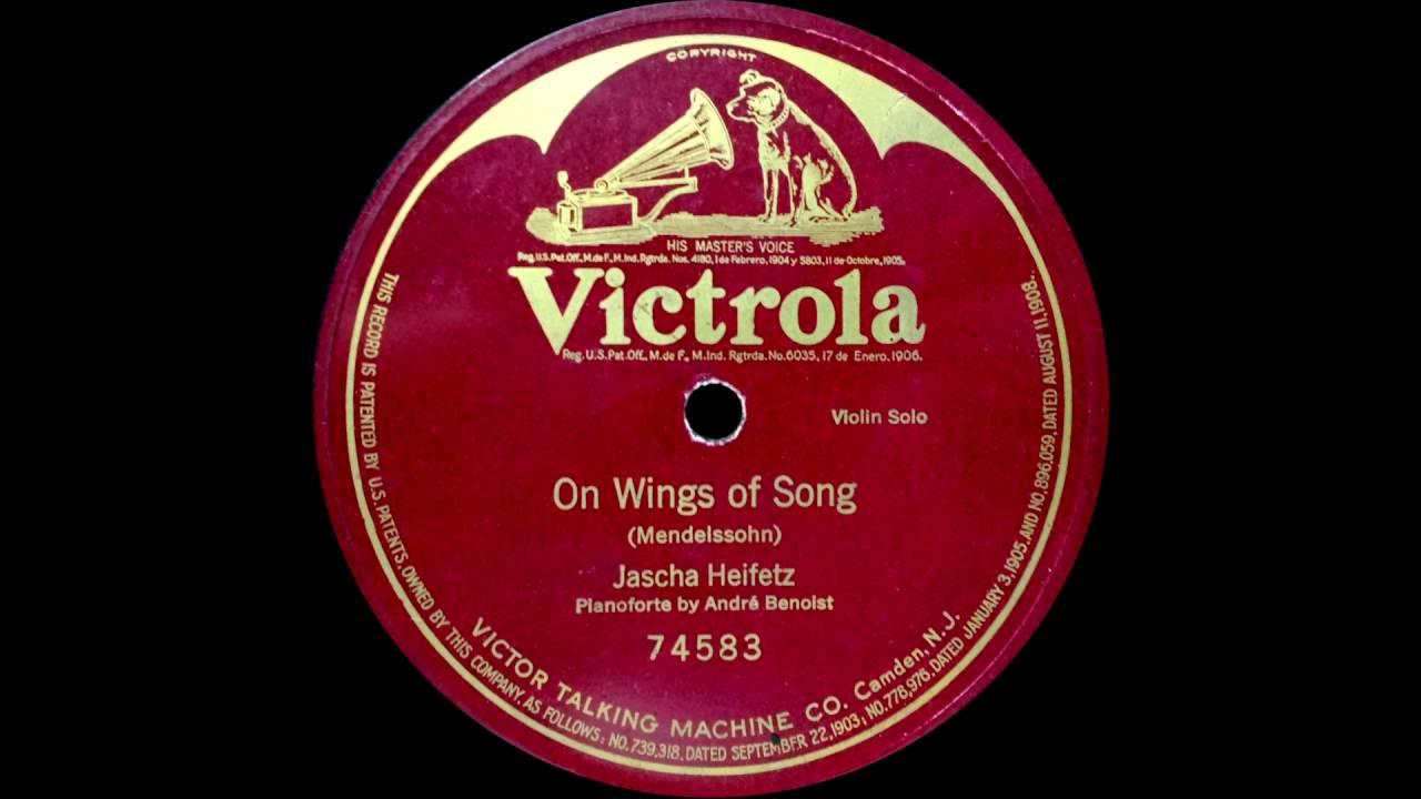 Heifetz plays Mendelssohn On Wings of Song (1918)