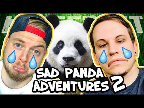 WE SAVED THE PANDAS! - SAD PANDA ADVENTURE 2! W/AshDubh [Minecraft Custom Map]