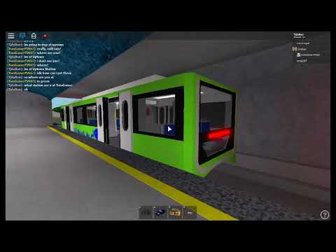 Robloxian Automatic Subway 3 Youtube Roblox Green Line Arriving And Departing At Uptown Heading Eastbound To Rather Street Youtube
