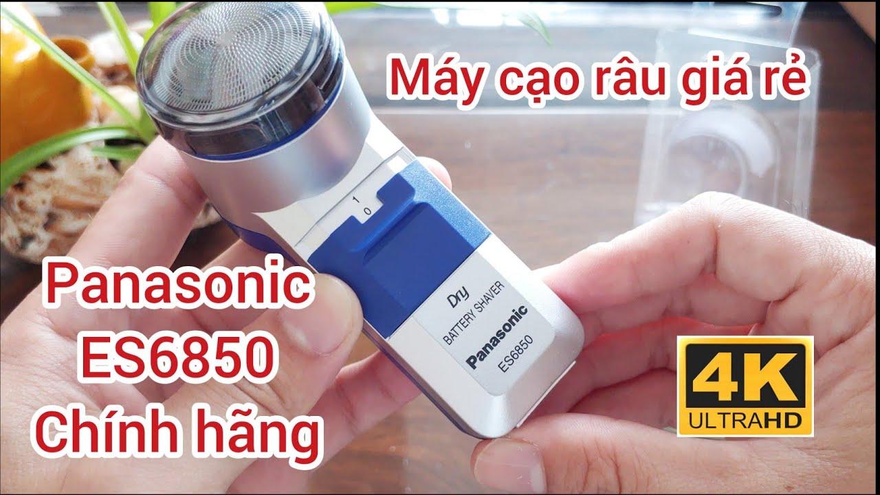 4K - Máy cạo râu Panasonic ES6850 giá rẻ - YouTube