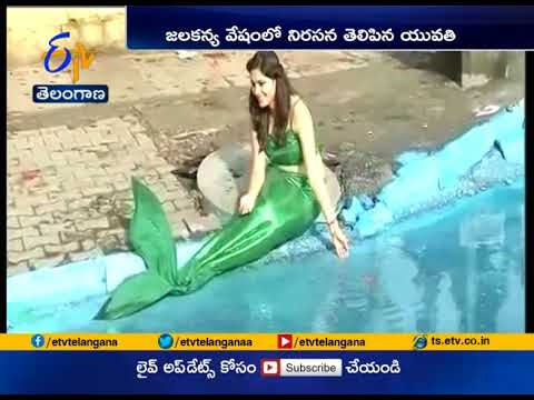 Bengaluru Pothole Deaths | In Unique Protest, Girl Turns Pothole into Mermaid's living Space