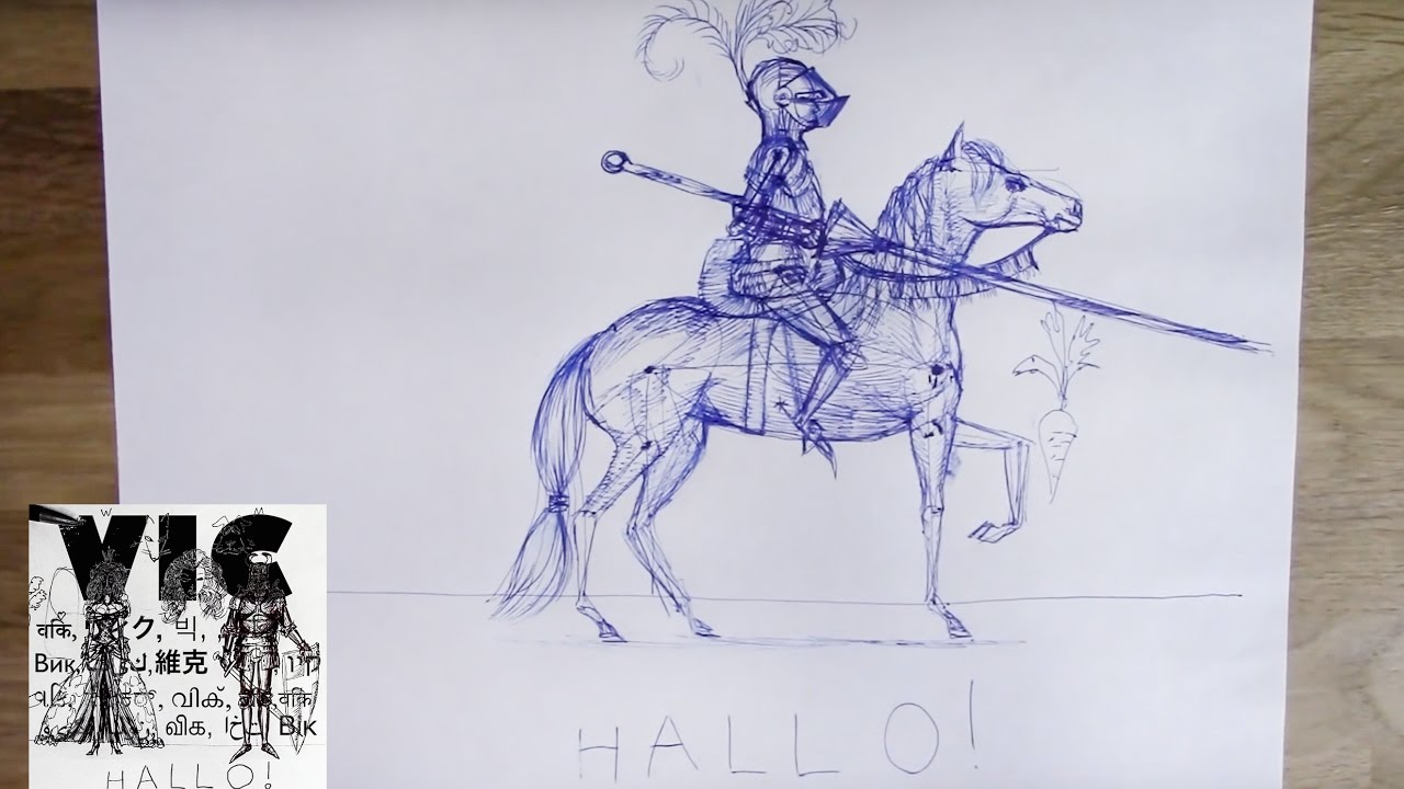 How To Draw A Knight And A  Horse