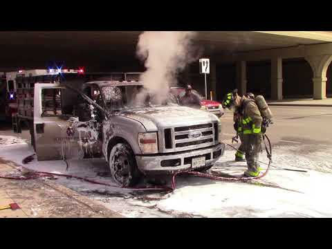 Veteran firefighter gets face full of foam