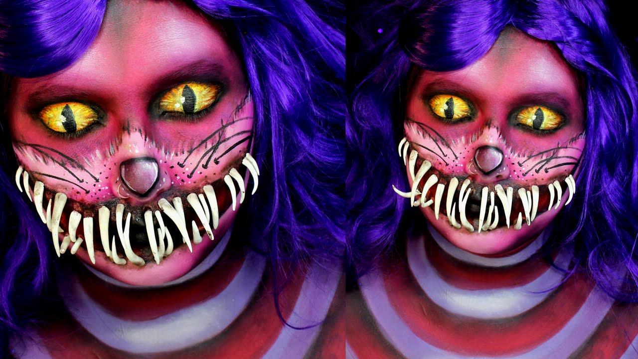 Halloween cute cat makeup