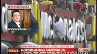 C5N - POLICIALES: IDENTIFICARON AL HINCHA DE BOCA QUE MURIO TRAS LOS DESTROZOS