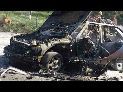 Взрыв автомобиля в Киеве: видео с камер наблюдения