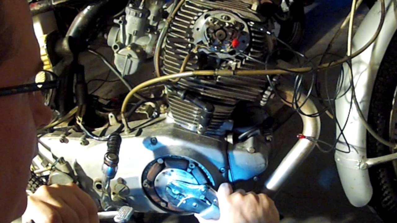 Honda Dream Wiring Diagram 1966 Honda Cb77 Restoration 7 Ignition Timing Youtube