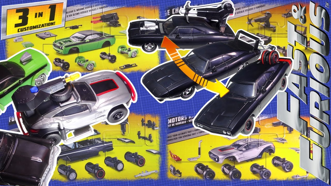 FAST /& FURIOUS 1956 FORD VICTORIA CUSTOMISABLE 3 IN 1 VEHICLE KIT MATTEL TOY