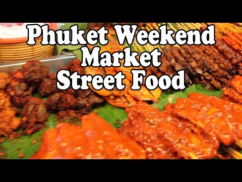Thai Street Food at the Phuket Weekend Market. Buying and eating Phuket Street Food