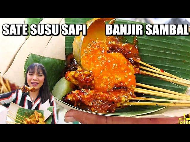 MAKAN SATE SUSU DI PINGGIR SELOKAN TAPI ENAK! #KulinerBandung