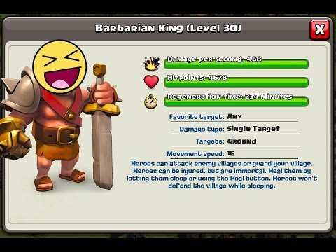 Clash of clans - Barbarian king Max lvl 30 (Buying)