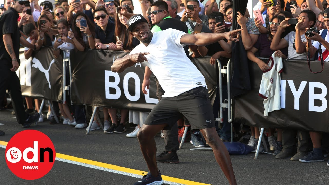 Can you sprint in space?! Usain Bolt's most bizarre races