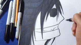 Cómo dibujar a Jeff The Killer 2 | How to draw Jeffthekiller