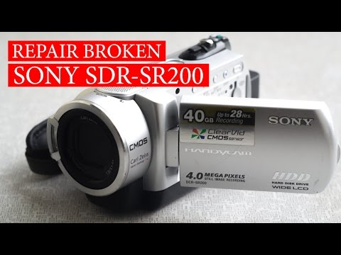 SONY SDR-SR200 doesn't show the picture. How to repair broken camera. Fix LCD monitor