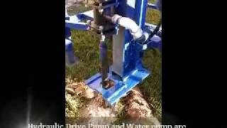 Home made water well drilling machine