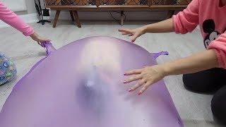Bomba Patlattık Slime Yaptık Balondan Ne çıkarsa Slime Dev Slime Balonu İçine Saklan Bidünya Oyuncak