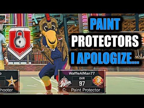 PAINT PROTECTORS I APOLOGIZE.....! THIS BUILD IS GODLY! BEST CENTER IN THE GAME!- NBA 2K17