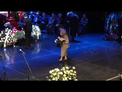 Церемония прощания с Народным артистом РСФСР Сергеем Юрским в театре Моссовета, 11 02 2019