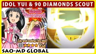 Will It Be Red Chest? Idol Yui, Tickets & 90 Diamonds Weapon Scout (SAO Memory Defrag)