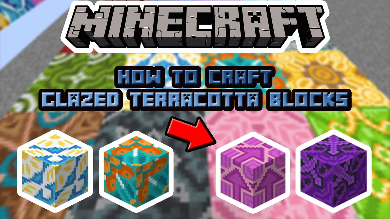 How to craft: All Glazed Terracotta Blocks in Minecraft 12.122