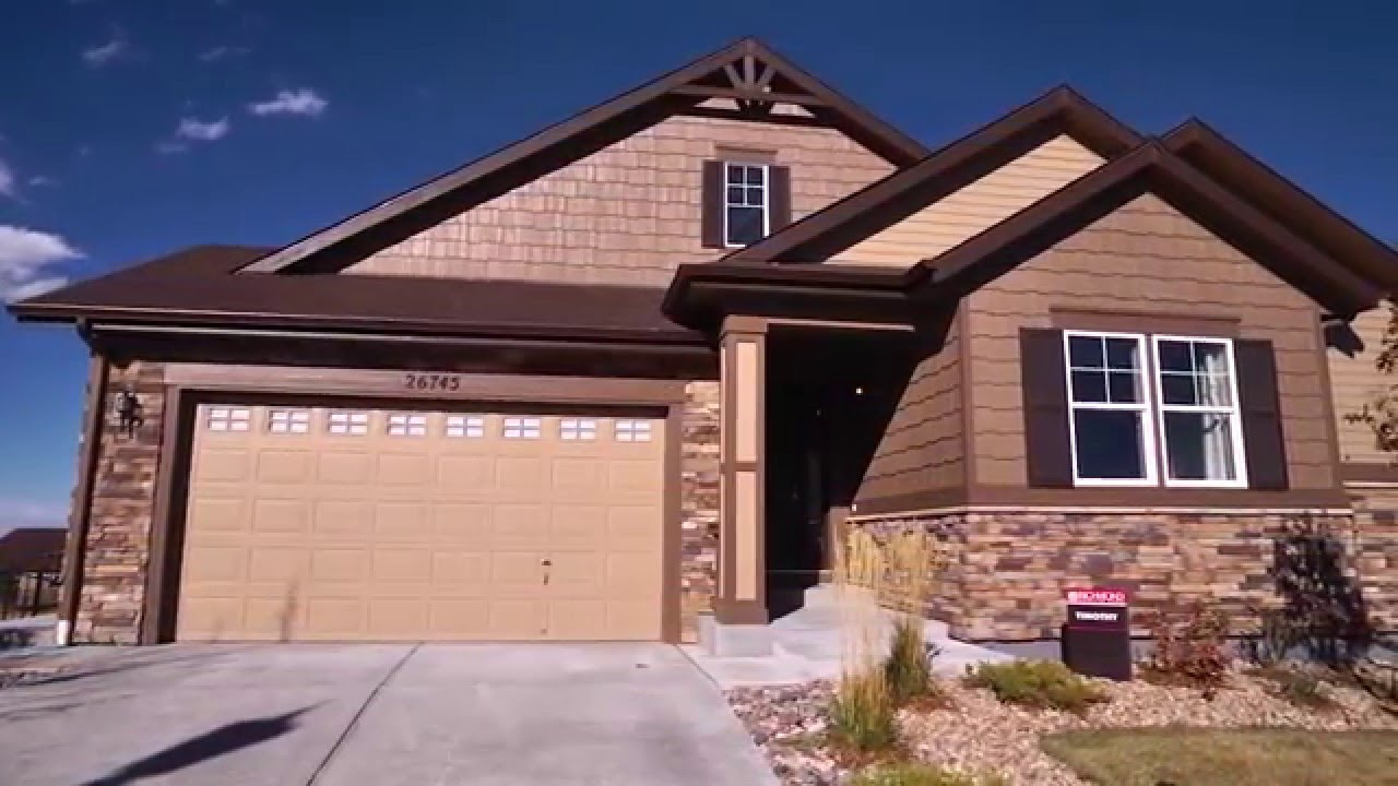 The timothy floor plan by richmond american homes youtube for American home builders floor plans