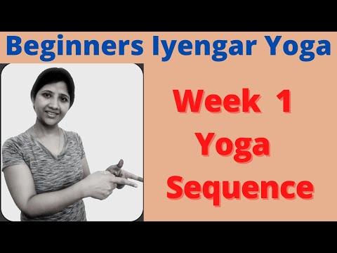 Iyengar Yoga For Beginners, Week 1 Iyengar Yoga Sequence, 35 Minutes Beginners Iyengar Yoga At Home