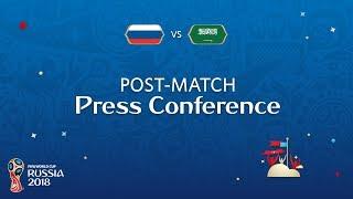 FIFA World Cup™ 2018: Russia - Saudi Arabia - Post Match Press Conference