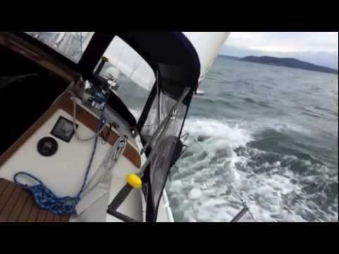 Winter Sailing on Puget Sound/Seattle Catalina 36