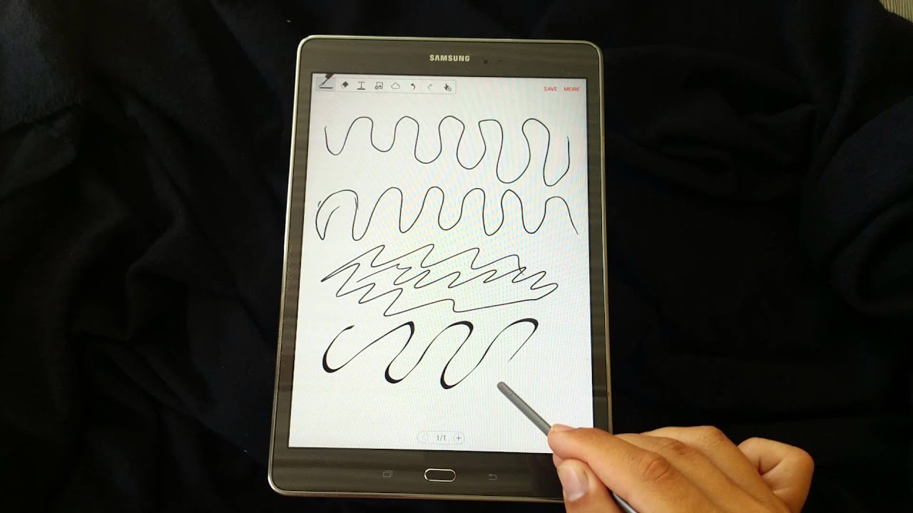 S Pen In Action Samsung Galaxy Tab A 97 With S Pen