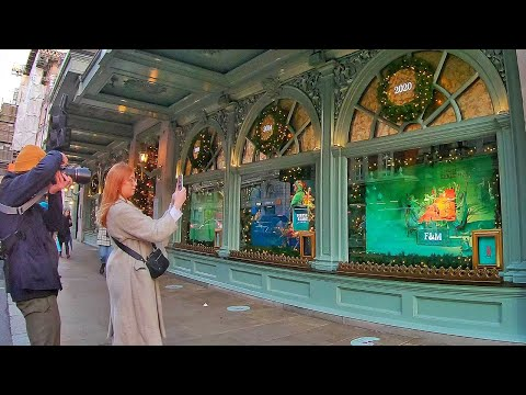 Walking London's GENTLEMAN'S Shopping Street and Fortnum & Mason (Window Shopping)