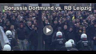 Gewalttäter Sport - 0231 Riot Hooligans beim Spiel BVB Borussia Dortmund vs. RB Leipzig