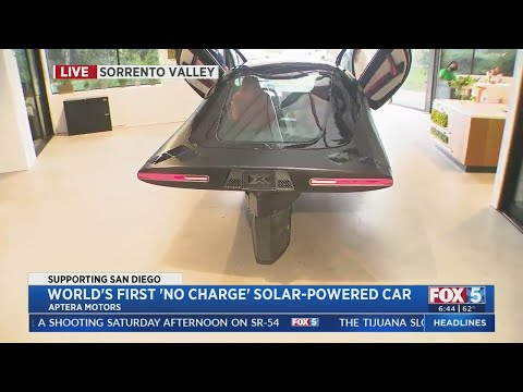 World's First 'No Charge' Solar-Powered Car