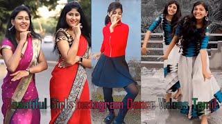 Beautiful Malayalam and Tamil Girls Instagram Dance Videos | Cute Girls Tik Tok Dance Videos Tamil