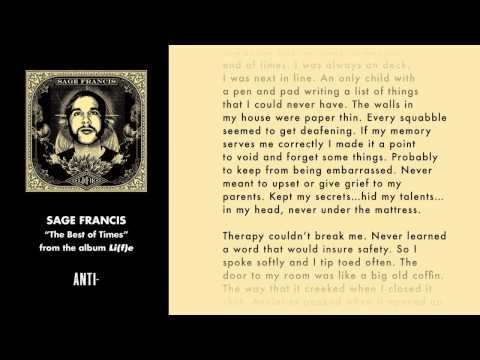 Sage Francis - The Best Of Times (w/ Lyrics)