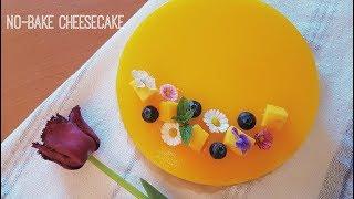 No-bake Mango Cheesecake   Bánh Cheesecake Xoài không lò nướng   Kitchen Time #2