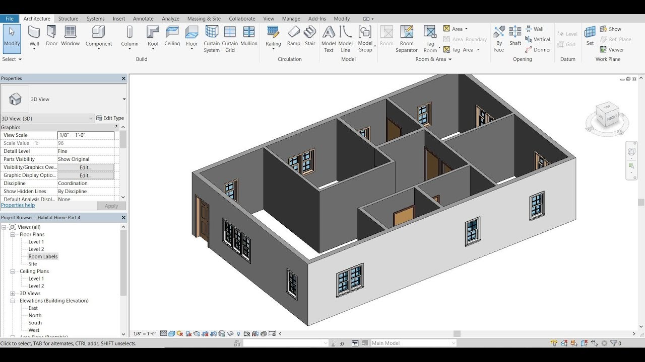 Autodesk revit 2018 tutorial 5 double pane windows for Autodesk online home design