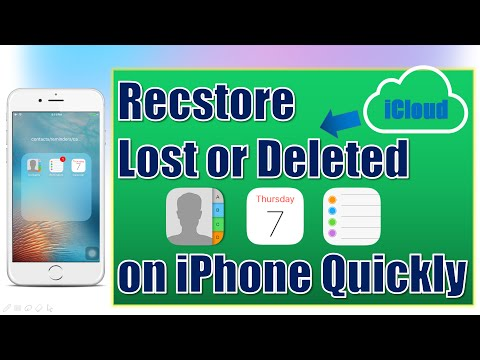How To Restore Lost Contacts Reminders Calendar On Iphone