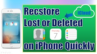 How to Restore Lost Contacts/Reminders/Calendar on iPhone