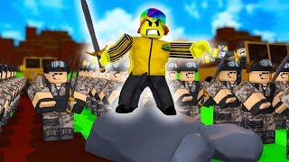 Making The STRONGEST ARMY and taking over the WORLD! (Roblox Army Simulator)