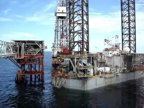 Trident  14 hits offshore platform