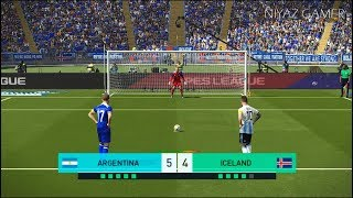 ARGENTINA vs ICELAND | Penalty Shootout | PES 2018 Gameplay PC