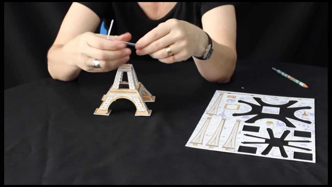 puzzle 3d la tour eiffel youtube. Black Bedroom Furniture Sets. Home Design Ideas