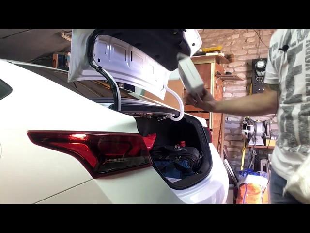 Установка парктроников на Hyundai Solaris2