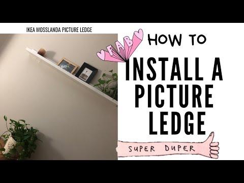 how to: mosslanda picture ledge install...vlog 21