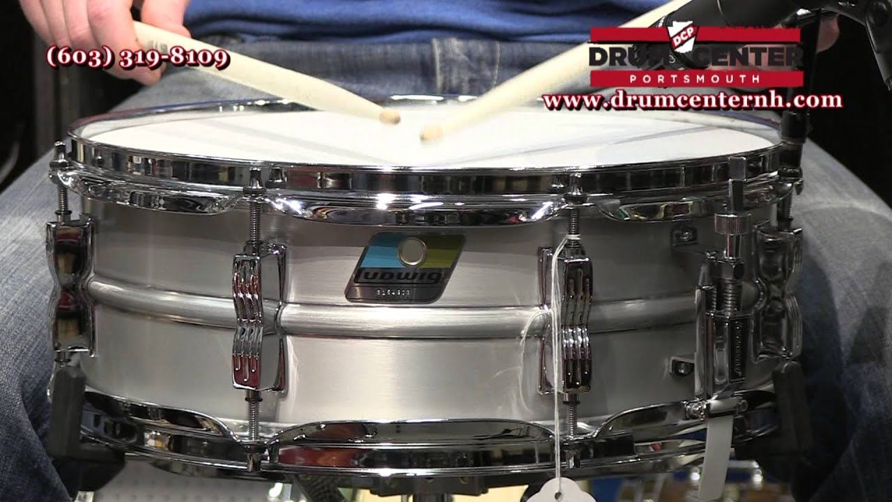 Ludwig Acrolite Classic Snare Drum 5X14 - LM404C - YouTube