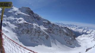 Skiing in the alps: Val Thorens, France