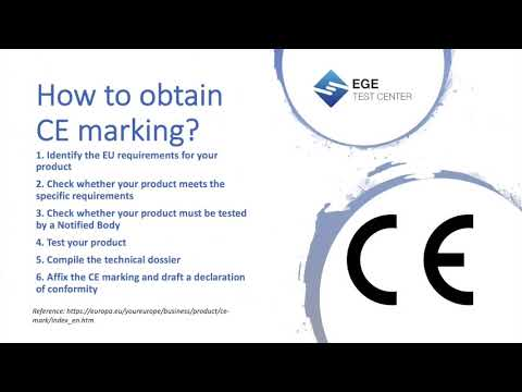 How to obtain CE marking?
